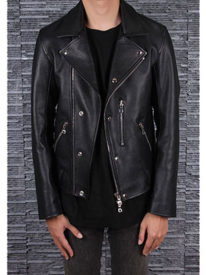 [Clearance 50% Sale]G Leather Rider JacketITALY Calf Skin