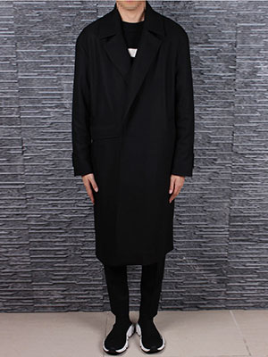[Clearance 50% Sale]Wool blend half trapTrench Coat