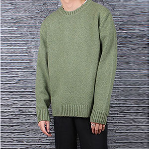 이태리 제냐 바루파Basic Round KnitOlive-Green