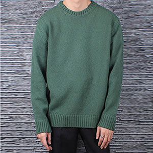 이태리 제냐 바루파Basic Round KnitBalsam Green