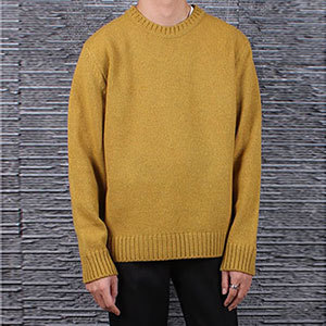 이태리 제냐 바루파Basic Round KnitMustard Yellow